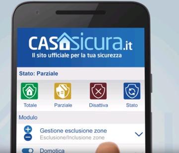 App per l'uso e la gestione di un sistema di allarme