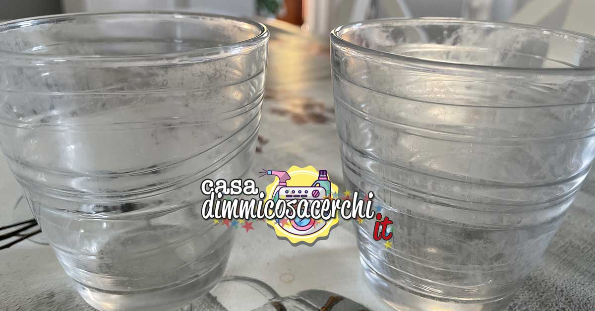 Bicchieri lavastoviglie opachi